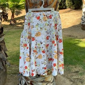 Women's Cabi Floral skirt size 8